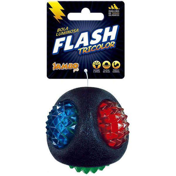 Brinquedo Para Cachorro Bola Tricolor Flash Jambo