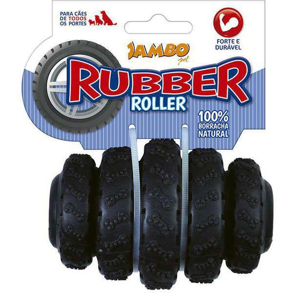 Brinquedo Para Cachorro Rubber Roller Médio Preto Jambo