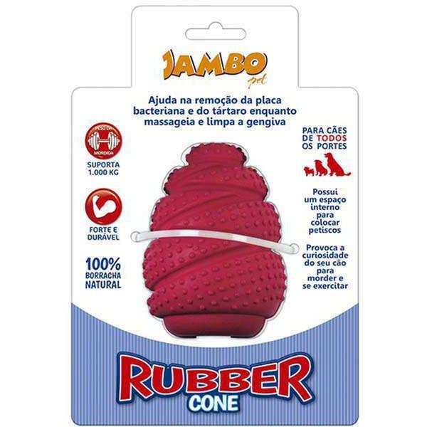 Brinquedo Para Cachorro Rubber Cone Médio Vermelho Jambo