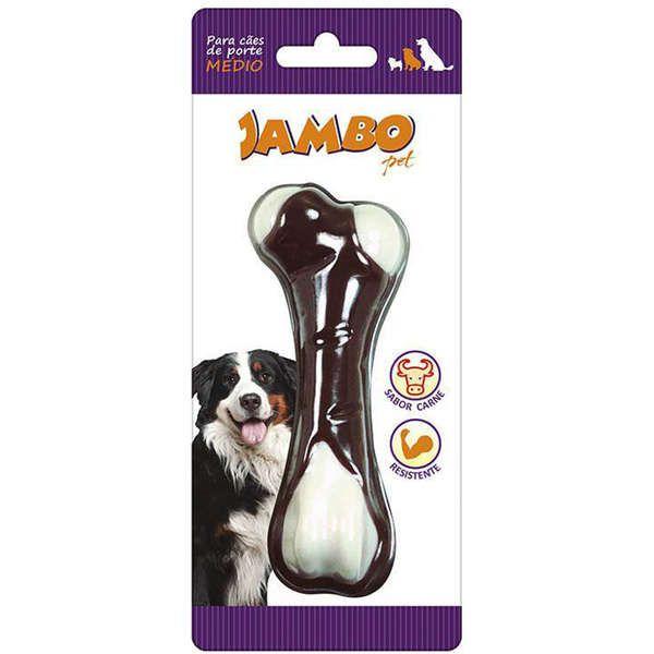 Brinquedo Para Cachorro Osso Nylon Flavor Skin Carne Jambo