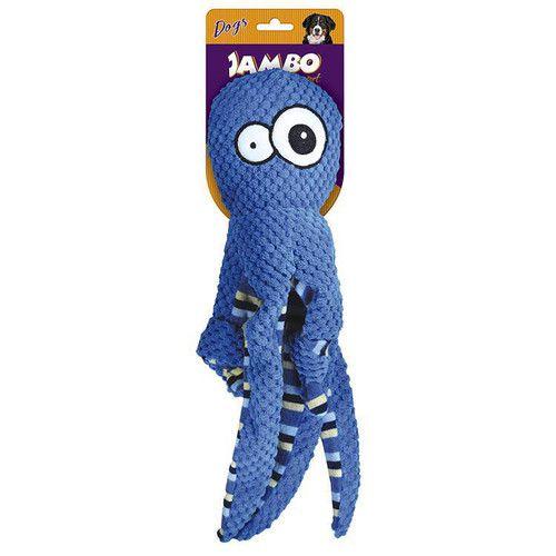 Brinquedo Para Cachorro Pelucia Octopus Azul Jambo