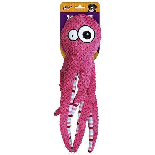 Brinquedo Para Cachorro Pelúcia Octopus Rosa Jambo