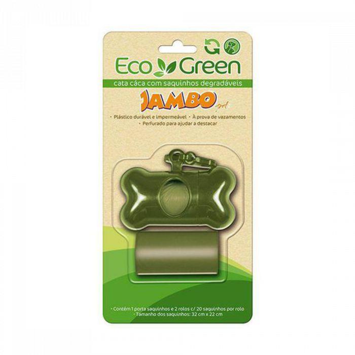 Kit Porta Saquinhos Bio Eco Green 2 Rolas Verde Jambo