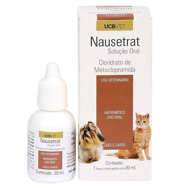 Medicamento Para Cachorro Nausetrat Solução Oral 20ml