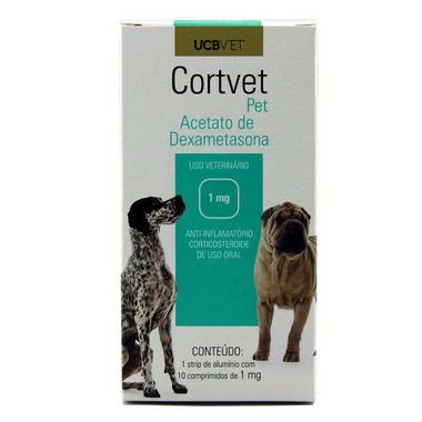 Medicamento Para Cachorro Cortvet Pet Display 5X10X1mg