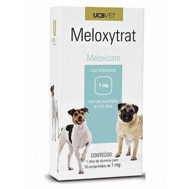 Medicamento Para Cachorro Meloxytrat Display 5X10X1mg