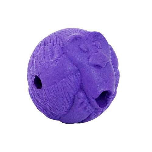 Brinquedos Para Cachorro Bola Porta Petisco Macaquinho M Roxo