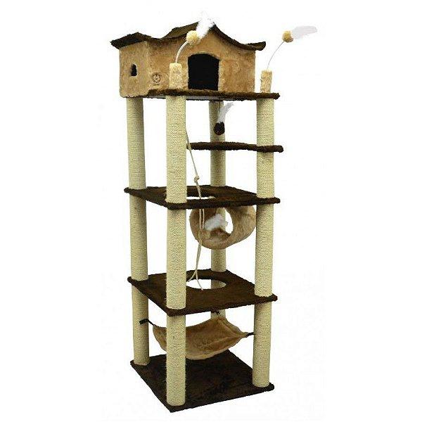 Arranhador Para Gato Médio São Pet Castelo 60x60x197cm