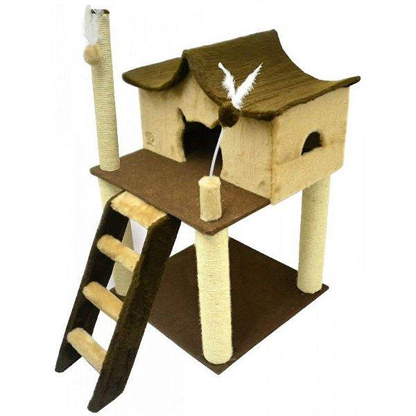 Arranhador Gato Castelinho São Pet Bege 60x60x106cm