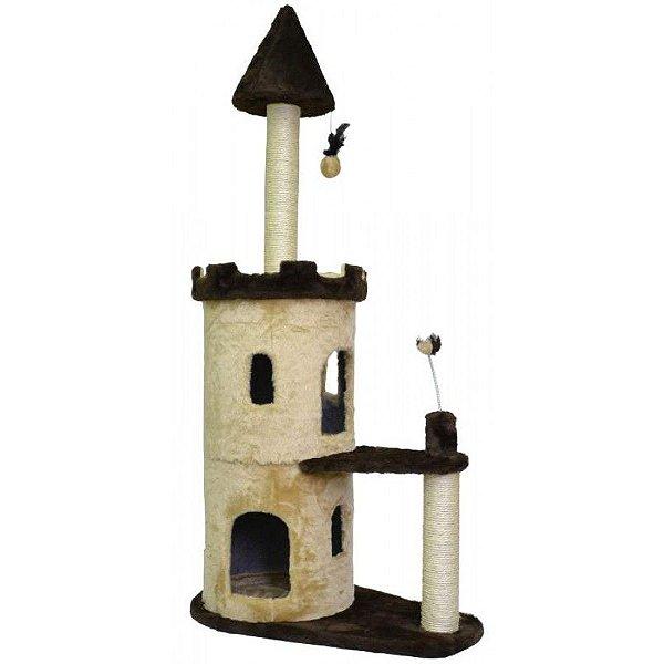 Arranhador Para Gato Castle São Pet Bege 77x45x160cm