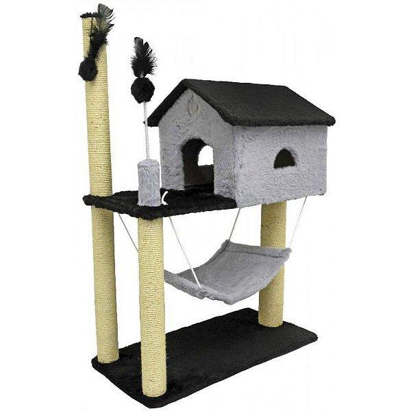 Arranhador Gatos House São Pet Cinza 70x35x104cm