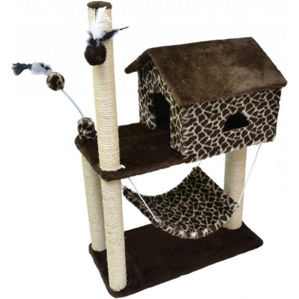 Arranhador Para Gato House São Pet Girafa 70x35x104cm