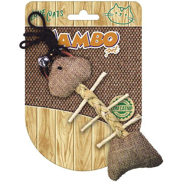Brinquedo Para Gato Peixe Natural Jambo