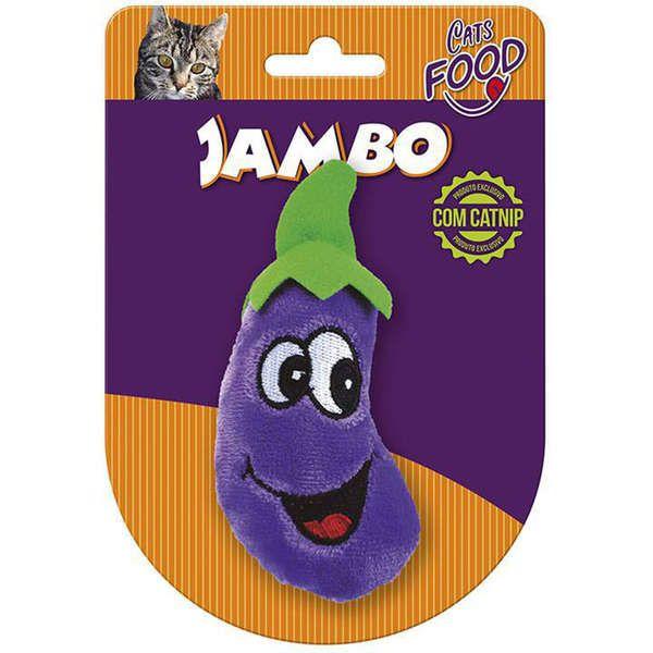 Brinquedo Para Gato Pelúcia Food Berinjela Roxo Jambo