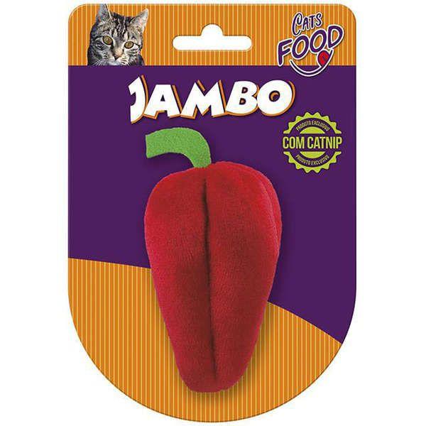 Brinquedo Para Gato Pelúcia Food Pimentão Vermelho Jambo