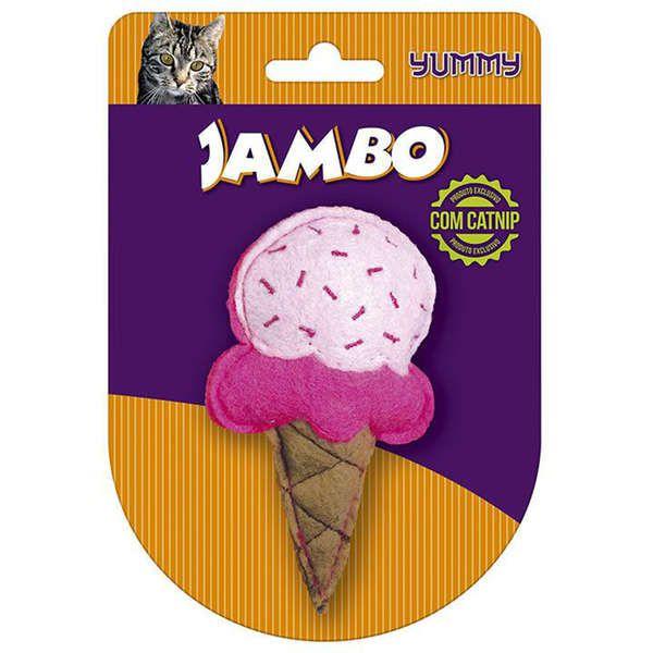 Brinquedo Para Gato Yummy Sorvete Rosa Jambo