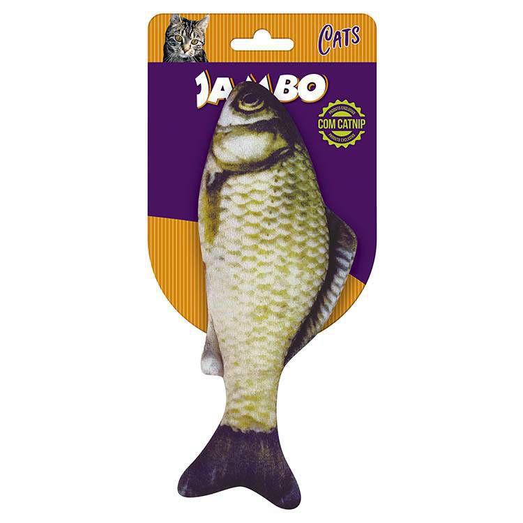 Brinquedo Para Gato Peixe Fish Real Jambo