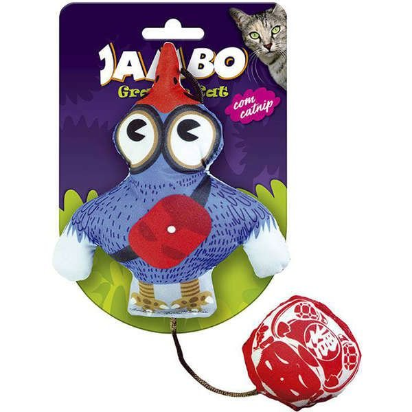 Brinquedo Para Gato Grafic Bird Azul Jambo