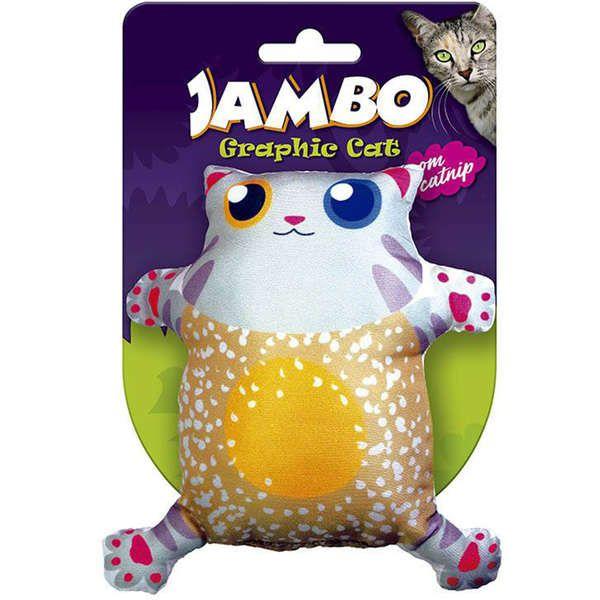 Brinquedo Para Gato Grafic Gato Cute Laranja Jambo