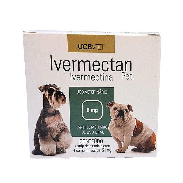 Medicamento Cachorro Vermifugo Ivermectan 6 mg 5 strips