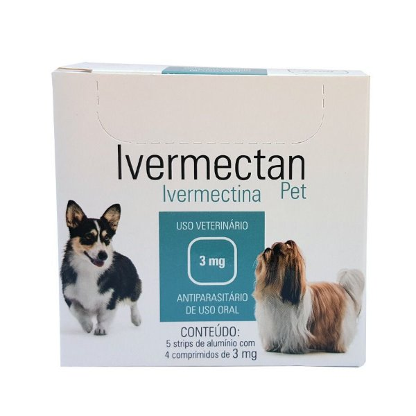 Medicamento Cachorro Vermifugo Ivermectan 3 mg 5 Strips