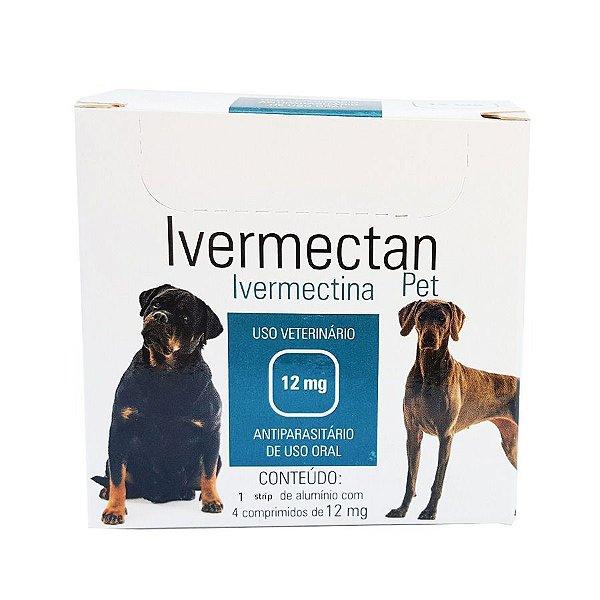 Medicamento Cachorro Vermifugo Ivermectan 12 mg 5 Strips