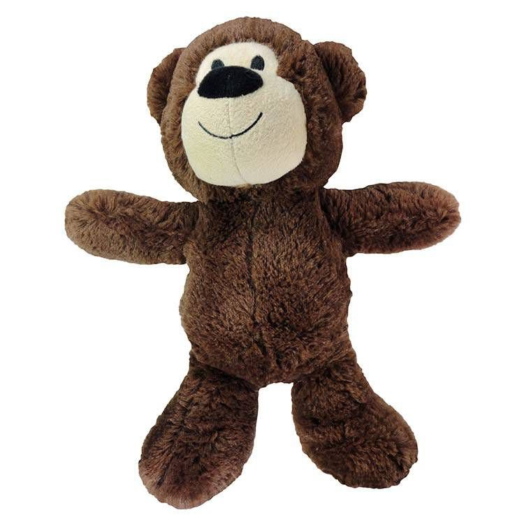 Brinquedo Para Cachorro Pelúcia Happy Bear Marrom Jambo