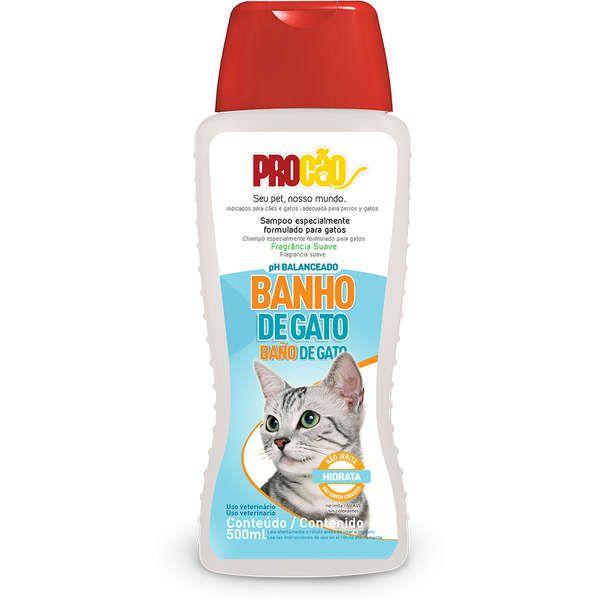 Shampoo Para Gato Banho de Gato 500ml Procão