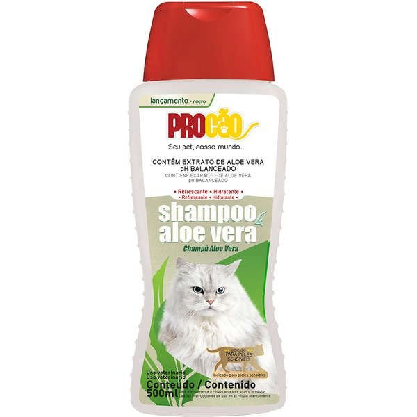 Shampoo Para Gato Aloé Vera 500ml Procão
