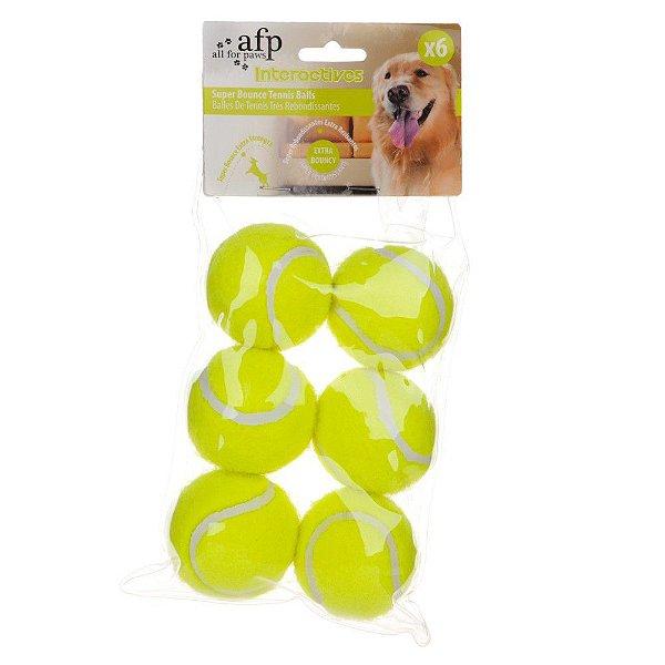 Brinquedo Para Cachorro Bola de Tênis Mini Amarela 6x