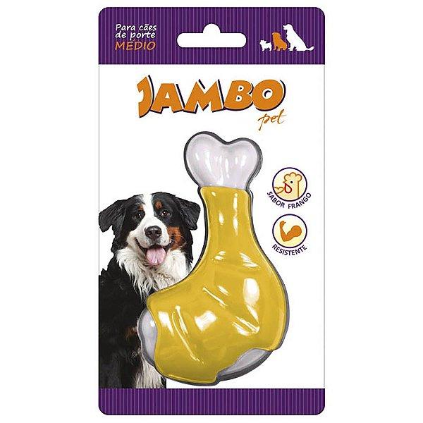 Brinquedo Cachorro Mordedor Sabor Frango Coxa Nylon Jambo