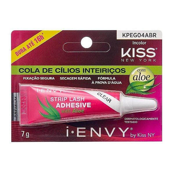Cola para Cílios Incolor 7g Kiss New York i-Envy com Aloe