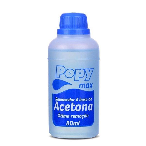 Removedor de Esmalte Acetona Popy Max 80ml
