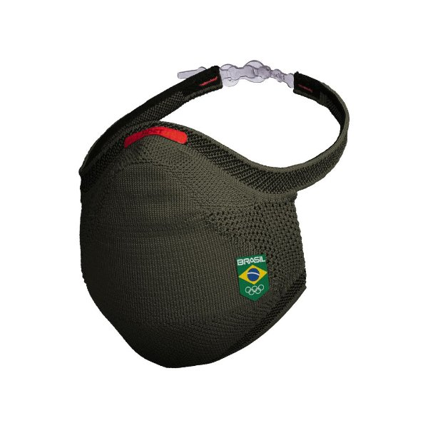 Kit Máscara Fiber + Protetor + 30 filtros Time Brasil Olimpiadas
