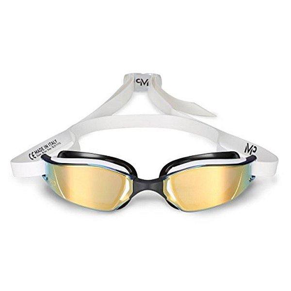 09fd639d8 Óculos de Natação Michael Phelps Xceed Branco e Preto com Lente Titanium  Gold