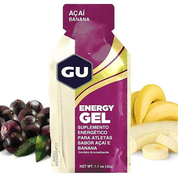 Caixa de Gel Carboidrato Gu Energy Açai com Banana