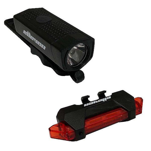 Kit iluminação p/ Bicicleta Farol+Pisca Elleven Power light