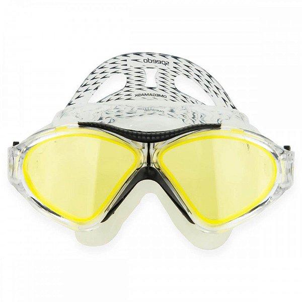 Oculos Speedo Omega Swin Mask Azul Cristal