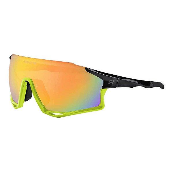 Oculos Ciclista Mark C/3 Lentes Revo/Fume/Transp Pto/Am Neon - High One