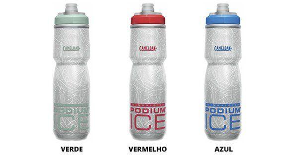 Garrafa Caramanhola Squeeze Camelbak Podium Ice 4x +Térmica