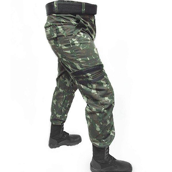 Calça Rip Stop Camuflada EB Masculina Exército - 3x Sem Juros