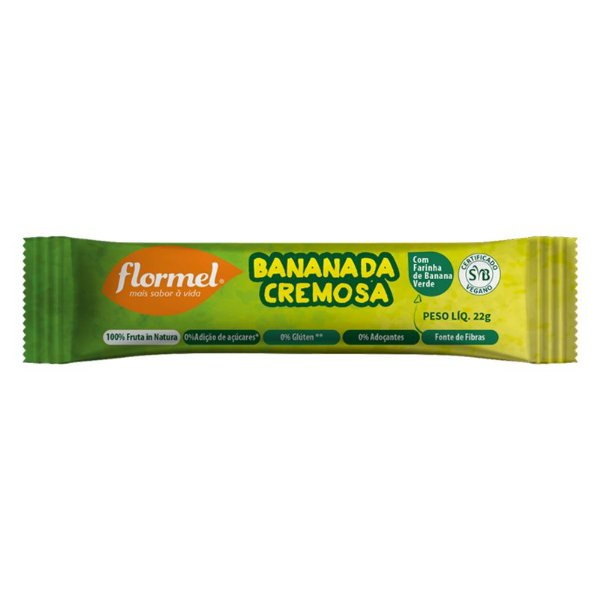 Bananada Cremosa Flormel Zero Açucar 22g