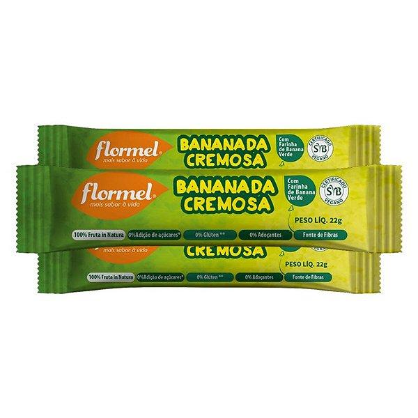 Kit 3 Bananada Cremosa Flormel Zero Açúcar 22g