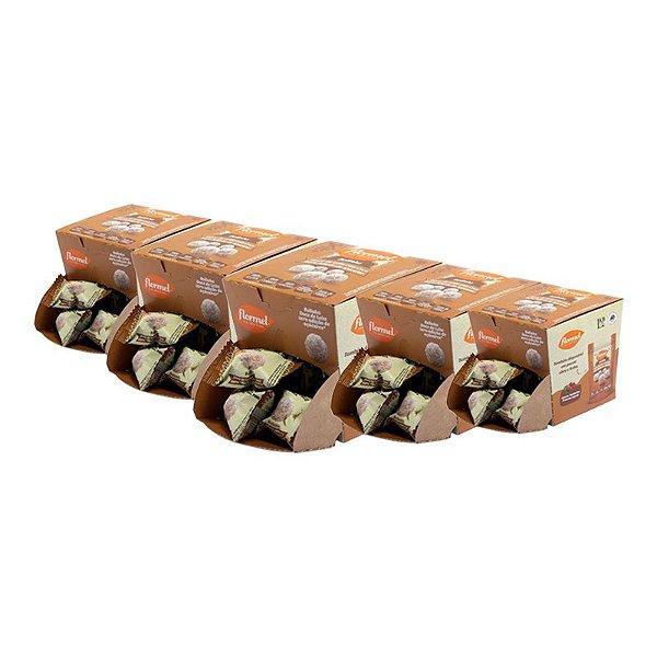 Kit 5 Bolinhas Doce de Leite C/Coco Flormel Zero Açúcar 10g 18Und