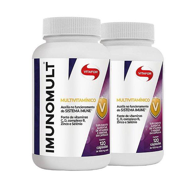 Kit 2 Imunomult Multivitamínico Vitafor 120 Cápsulas