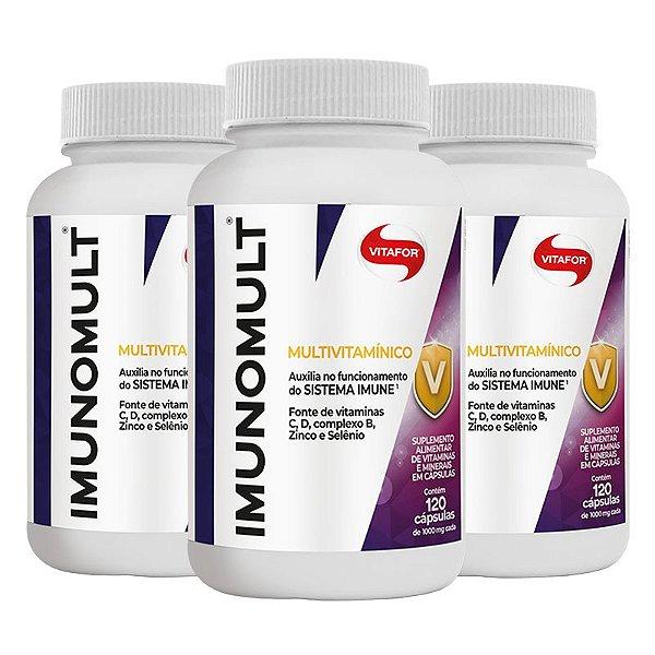Kit 3 Imunomult Multivitamínico Vitafor 120 Cápsulas