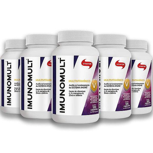 Kit 5 Imunomult Multivitamínico Vitafor 120 Cápsulas