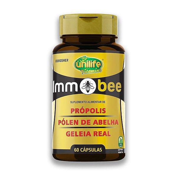 ImmoBee Própolis, pólen de abelha e geleia real Unilife 60 Capsulas