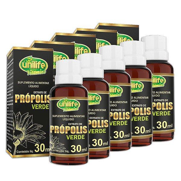 Kit 5 Extrato de Própolis Verde Unilife 30ml