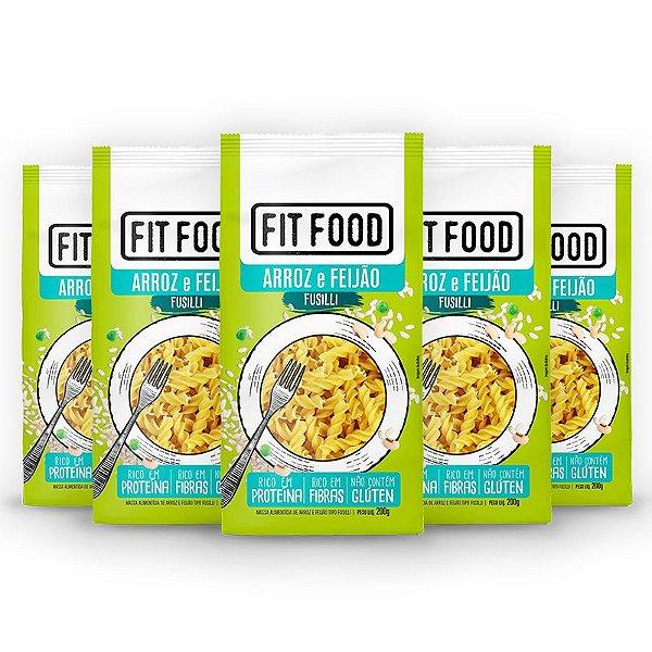 Kit 2 Macarrão Fusilli Fit Food Arroz Com Feijão 200 gramas